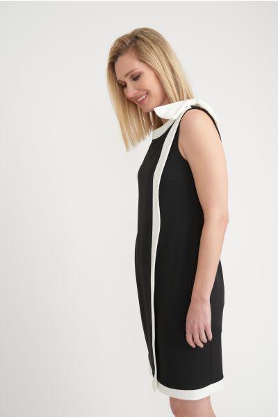 Joseph Ribkoff Black/Vanilla Dress Style 203146