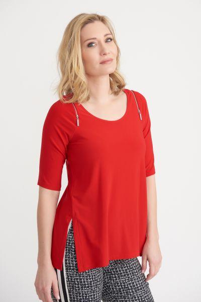 Joseph Ribkoff Lipstick Red Top Style 203166