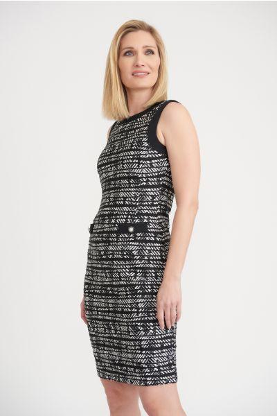 Joseph Ribkoff Black/Vanilla Dress Style 203203