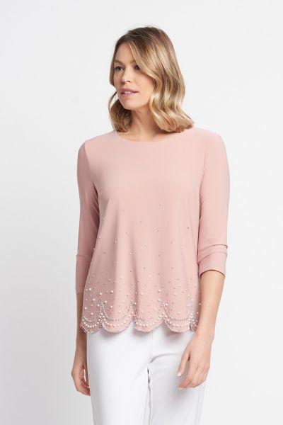 Joseph Ribkoff Pink Quartz Top Style 203247