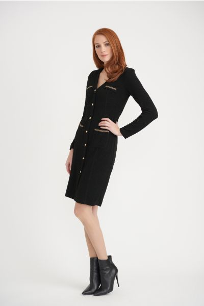 Joseph Ribkoff Black Dress  Style 203252