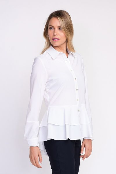 Joseph Ribkoff White Blouse Style 203305