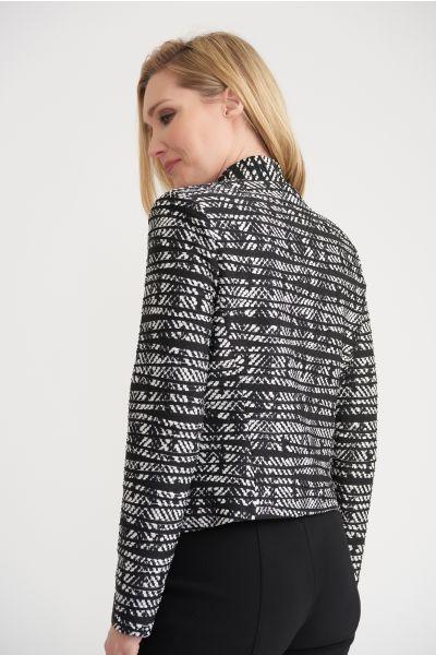 Joseph Ribkoff Black/Off White Jacket Style 203307