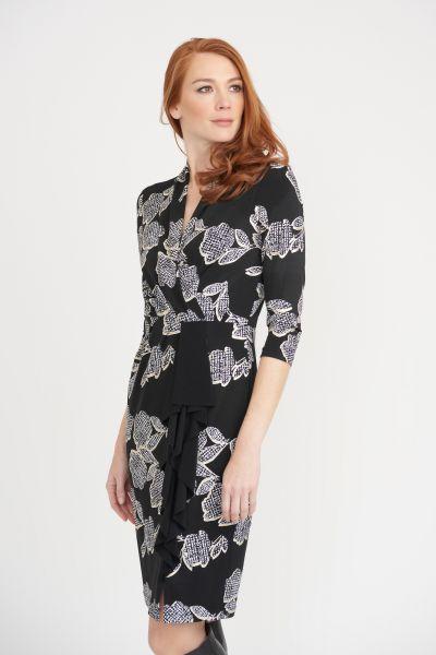 Joseph Ribkoff Black/Vanilla Dress Style 203312
