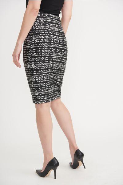 Joseph Ribkoff Black/ Off White Skirt Style 203334