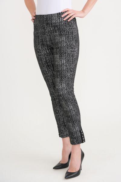 Joseph Ribkoff Black/ Off White Pants Style 203350