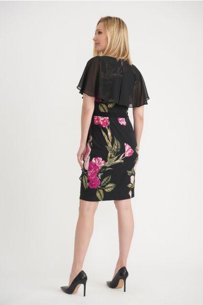 Joseph Ribkoff Floral Print Sheer Cover Dress Style 203355