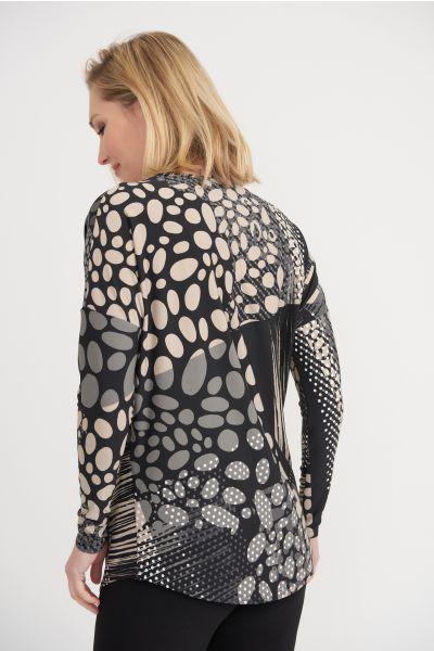 Joseph Ribkoff Black/Beige Top Style 203368