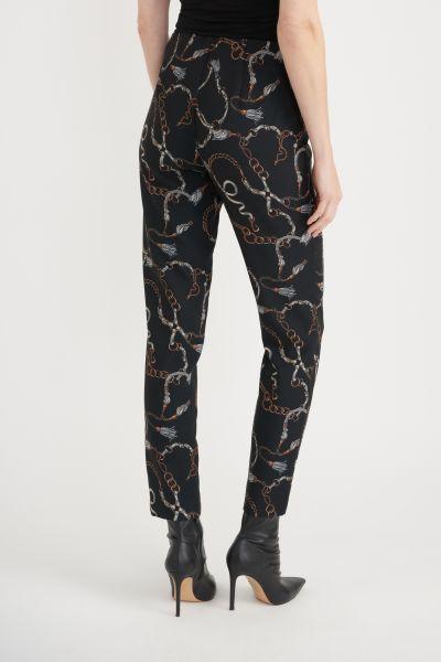 Joseph Ribkoff Black/Mutli Pants Style 203380
