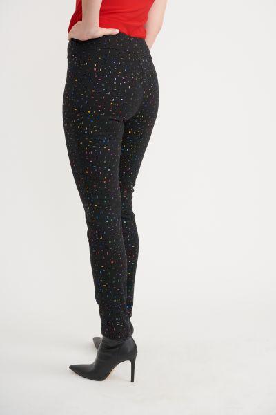 Joseph Ribkoff Black/Mutli Pants Style 203392