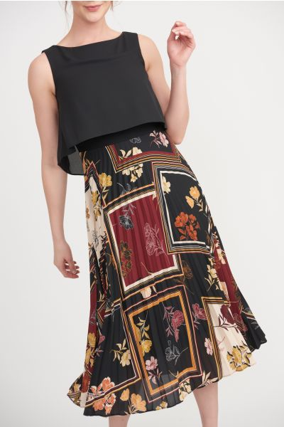 Joseph Ribkoff Black/Multi Dress Style 203421