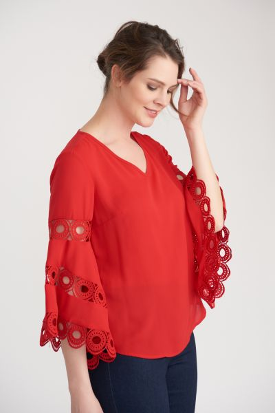 Joseph Ribkoff Red Top Style 203441