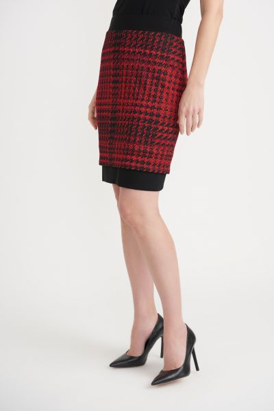 Joseph Ribkoff Black/Red Skirt Style 203457
