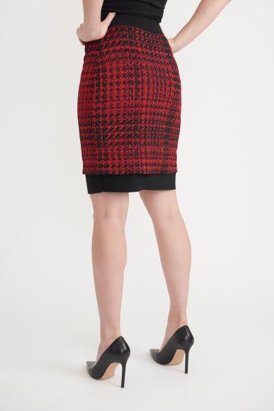 Joseph Ribkoff Black/Red Skirt Style 203457