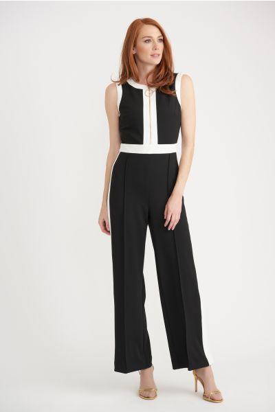 Joseph Ribkoff Black/Vanilla Jumpsuit Style 203490