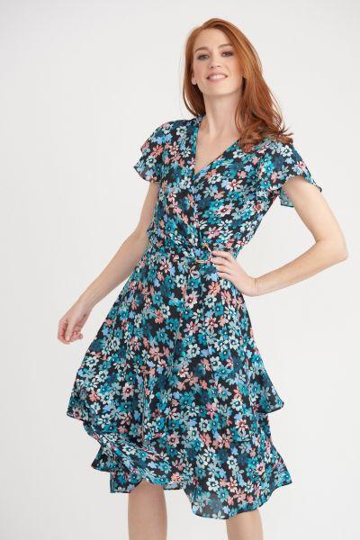 Joseph Ribkoff Black/Multi Dress Style 203494