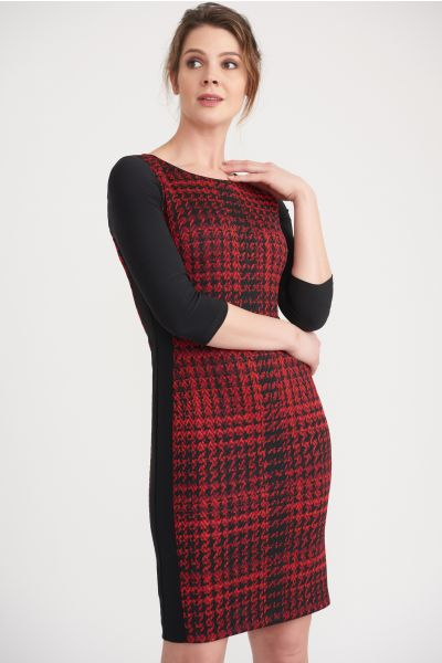 Joseph Ribkoff Black/Red Dress Style 203499