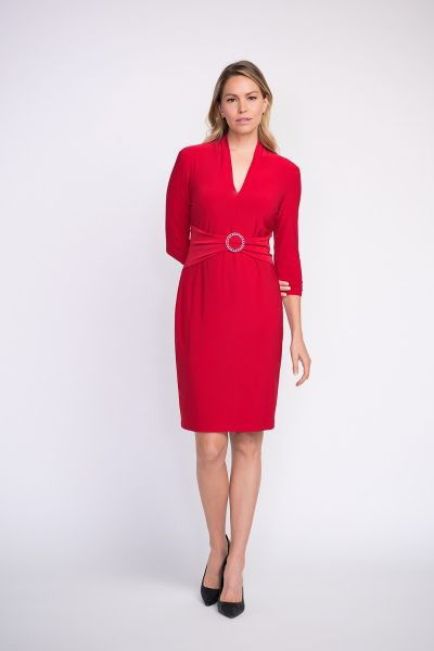 Joseph Ribkoff Red Dress Style 203503
