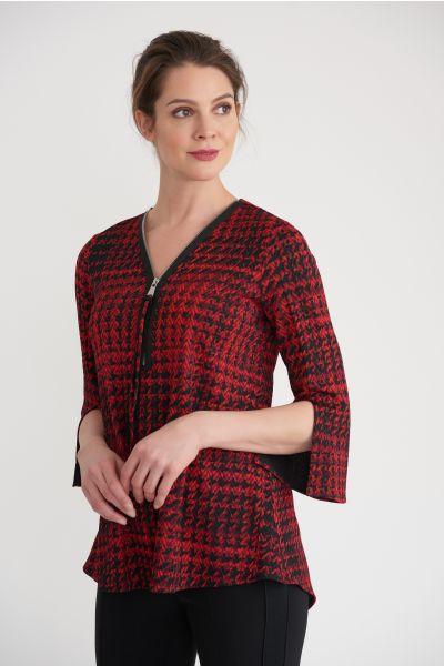 Joseph Ribkoff Black/Red Tunic Style 203511
