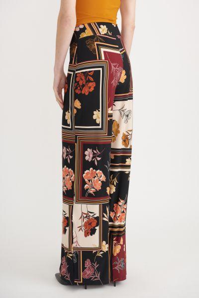 Joseph Ribkoff Black/Multi Pants Style 203539