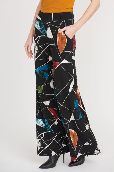 Joseph Ribkoff Black/Multi Pants Style 203541