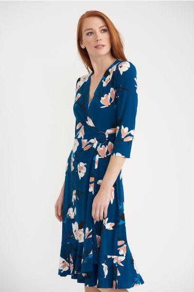 Joseph Ribkoff Teal/Multi Dress Style 203551
