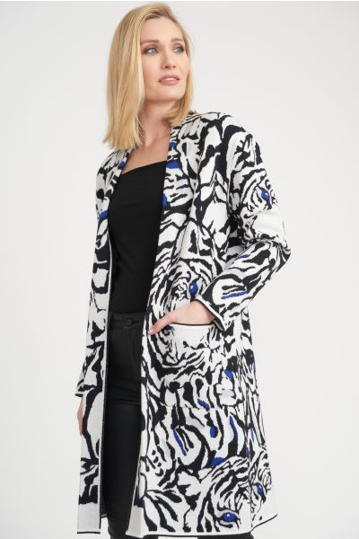 Joseph Ribkoff Black/White Cover Up Style 203557