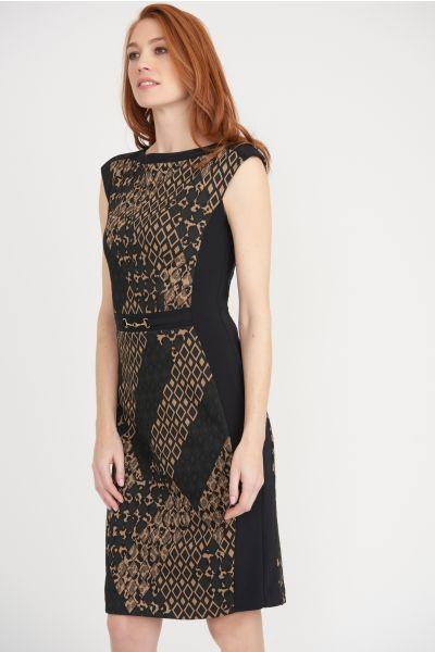 Joseph Ribkoff Black/Multi Dress Style 203617