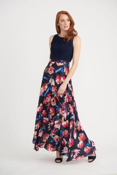 Joseph Ribkoff Black Multi Dress Style 203620