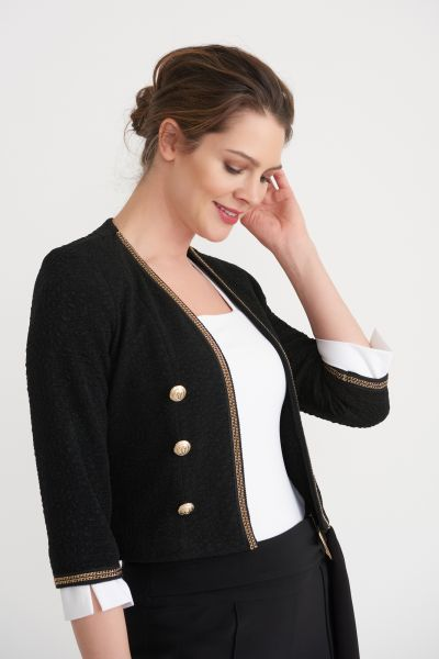 Joseph Ribkoff Black Jacket Style 203621