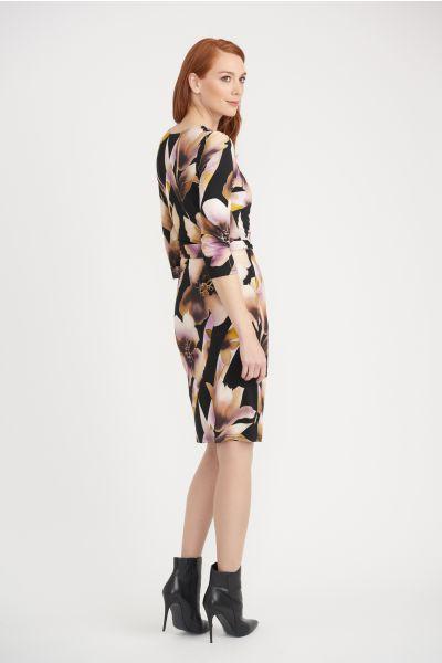 Joseph Ribkoff Black/Pink Dress Style 203627