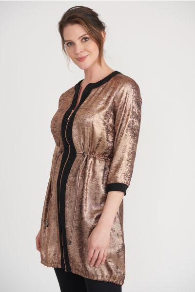 Joseph Ribkoff Rose Gold/Black Jacket Style 203650