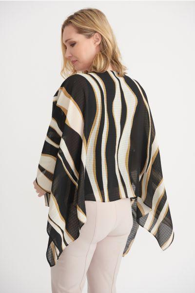 Joseph Ribkoff Black/Beige/Cream Top Style 203651