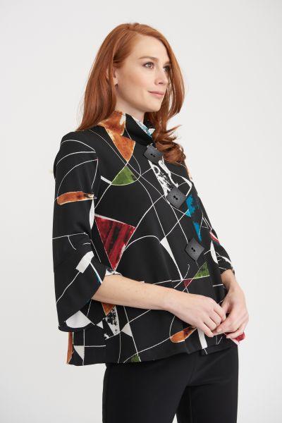 Joseph Ribkoff Black/Multi Jacket Style 203664