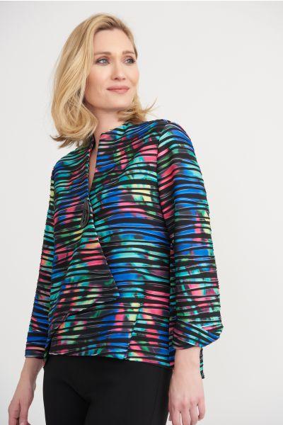 Joseph Ribkoff Black/Multi Jacket Style 203668