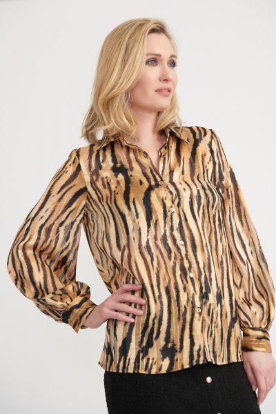 Joseph Ribkoff Black/Gold Blouse Style 203682