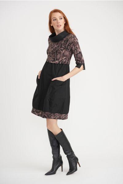 Joseph Ribkoff Black/Brown Dress Style 203690