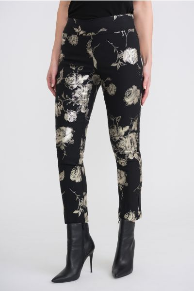 Joseph Ribkoff Black/Gold Pants Style 204068