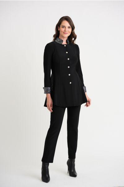Joseph Ribkoff Black/Silver Jacket Style 204090