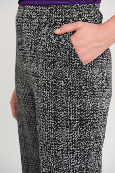 Joseph Ribkoff Black/Grey Pant Style 204110