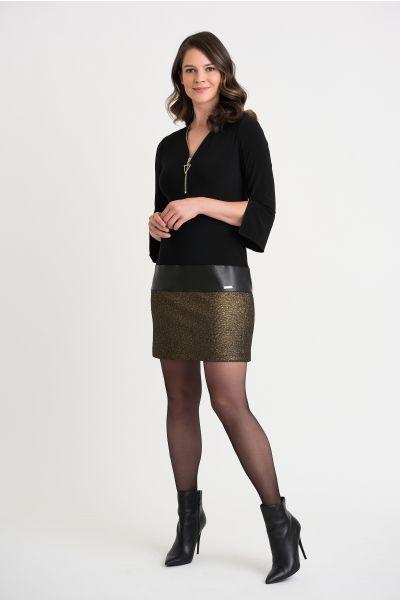 Joseph Ribkoff Black/Gold Dress Style 204132