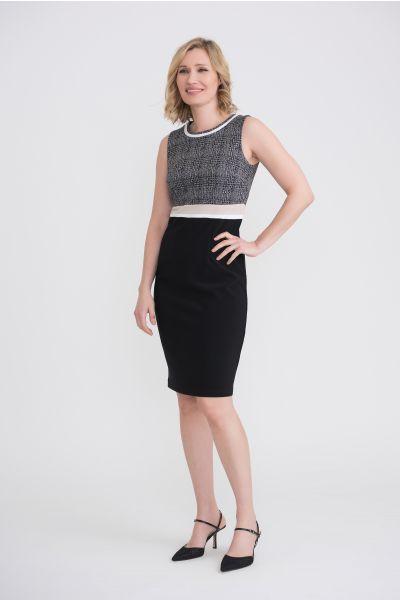 Joseph Ribkoff Black/Grey Dress Style 204193
