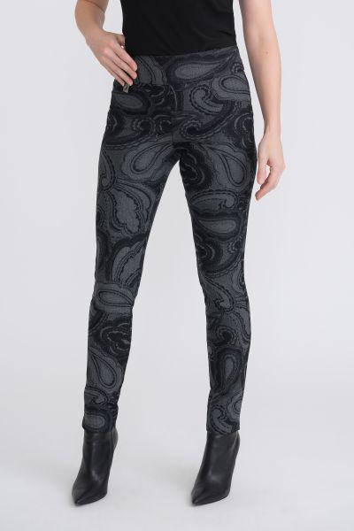 Joseph Ribkoff Grey/Black Pants Style 204216