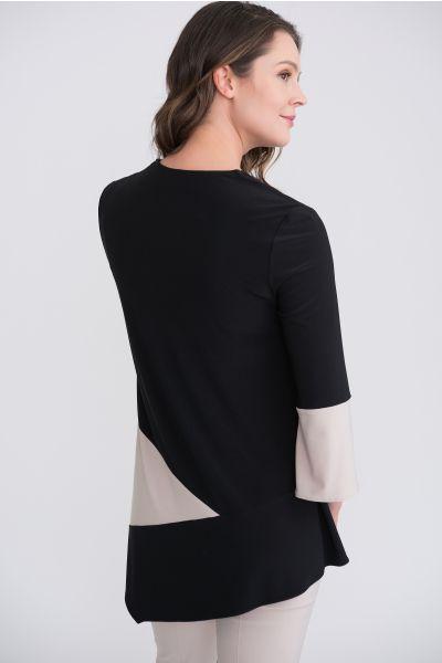 Joseph Ribkoff Black/Sand Tunic Style 204232