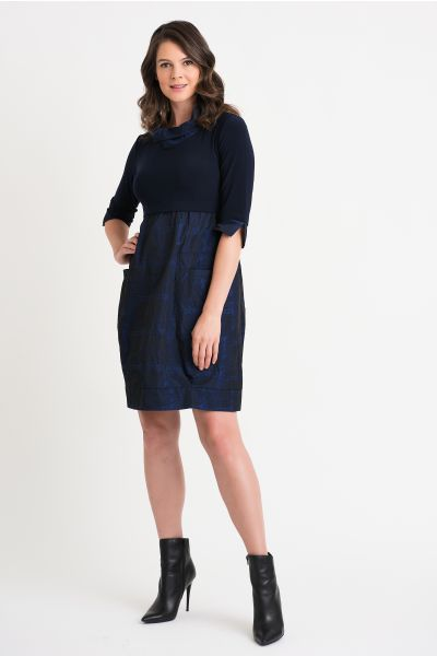 Joseph Ribkoff Midnight/Multi Dress Style 204236