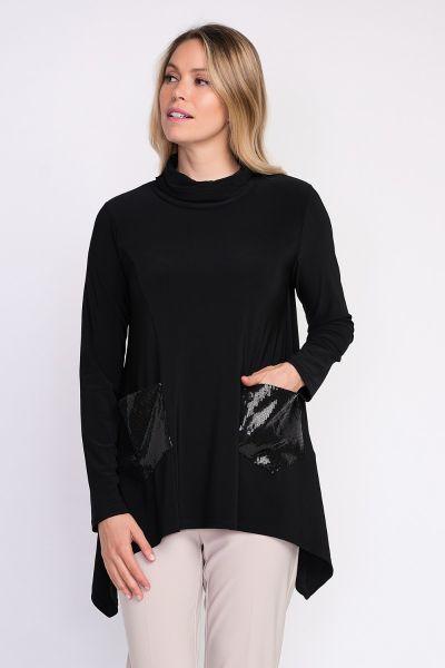 Joseph Ribkoff Black Tunic Style 204246