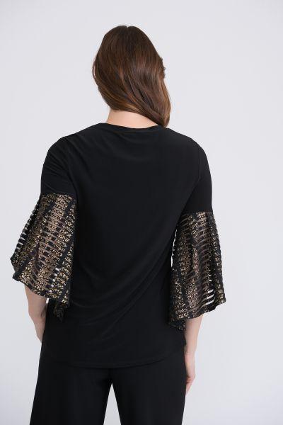 Joseph Ribkoff Black/Gold Top Style 204293