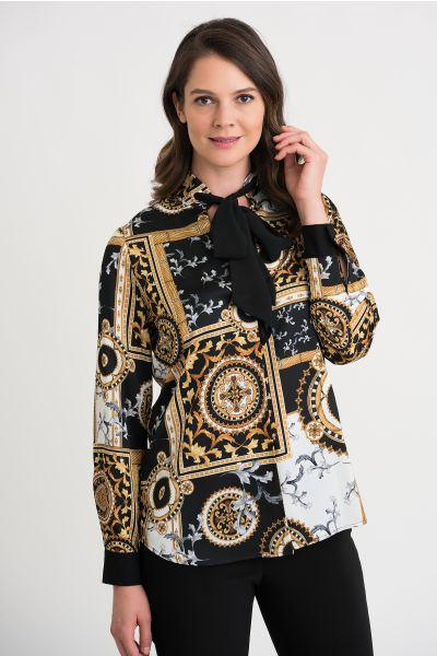 Joseph Ribkoff Black/Gold Top Style 204307