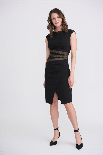 Joseph Ribkoff Black/Gold Dress Style 204318