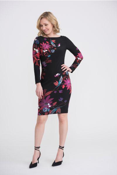 Joseph Ribkoff Black/Multi Dress Style 204324